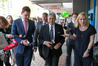 """NZ First leader Winston Peters leaving a vietnamese restaurant after having lunch with his advisor Paul Carrad. Peters says the decision is """"seriously difficult"""". Photo / Mark Mitchell"""