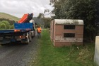 An old caravan in Whareroa Farm, about to be transported to Menzshed Kapiti, is getting a major revamp.
