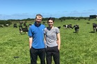 Owen Clegg and Hollie Wham are in their second season 50:50 sharemilking 185 cows at Manutahi, south of Hawera. Photo / Supplied