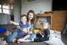 Psychologist and mother Miriam Wood, with her two children, Sam Wood, 4, and Reuben Wood 20 months, says anything that can help prevent postnatal depression is fantastic. Photo/Michael Craig