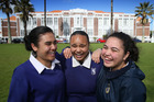 Otahuhu College year 13 students Libbi Wright, Manaia King and Roberta Wright-McIvor all speak highly of the school's health clinic. Photo / Doug Sherring