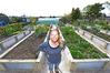Andrea Green in Good Neighbour's community garden in Welcome Bay. Photo/file