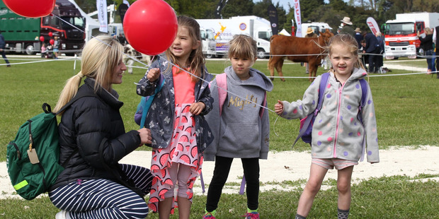 Emma Lantsbury, (left) with Jess, Kaia, Anna from Eskdale School. Photo Duncan Brown