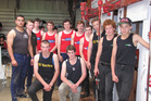 The competitors in the first Hawke's Bay schools shearing championship in 2013. Winner Whakapunake Maraki (right), of Flaxmere, has since shorn some seasons in Australia.  Photo/Supplied