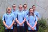 Northland's team at the NZ Short Course Championships. From left: Ciara Smith, Annabell Simpson, Rebecca Reade, Archie White, Madeline Whittam, Paul Linton. Photo / Supplied