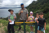 SMUGGLERS TALE: DOC Ranger Laurence Sullivan led a group of children on the first Toyota Kiwi Guardians adventure site in Northland, at Smugglers Bay on the weekend.