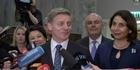 Watch: Bill English responds to NZ First Decision