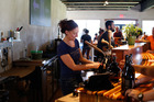 A look at the tap room at Hill Farmstead. Photo / Sarah Priestap