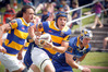 Bay of Plenty flanker Hugh Blake makes a break against Otago. Photo/ Andrew Warner