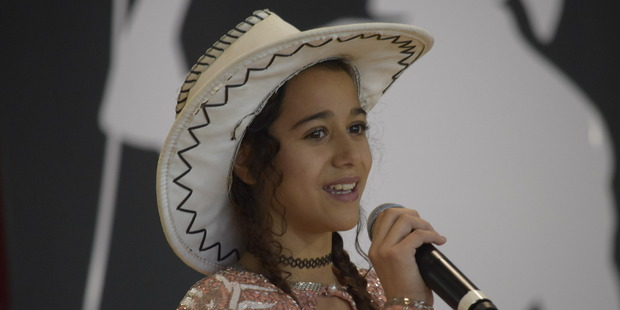 12-year-old Shamika Hoeta is singing her way to stardom.