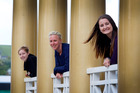 Elise Goodge (left), Charlotte Melser and Lizzie de Vegt will perform at the Royal Whanganui Opera House for Venus Unplugged.