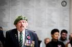 Anthony Wareham at the Armistice Day memorial service at the Auckland War Memorial Museum. Photo / Jason Oxenham.