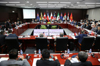 Trade Ministers from 11 countries at the Apec summit thought they had reached agreement late last night on the Trans Pacific Partnership agreement, but there had been a terrible mistake. Photo / AP