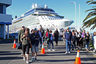 The Celebrity Solstice, plagued by norovirus, berthed at the Port of Tauranga this week. Photo/John Borren