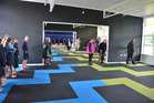 Staff, students and visitors exploring Kaikohe Intermediate School's new learning space after its blessing and official opening.