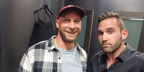Married at First Sight NZ contestants Haydn Daniels and Luke Cederman are auctioning their wedding rings for charity. Photo / Supplied