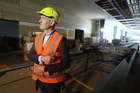 Chief Executive of Auckland Airport Adrian Littlewood speaks on the departure area upgrade. / Jason Oxenham