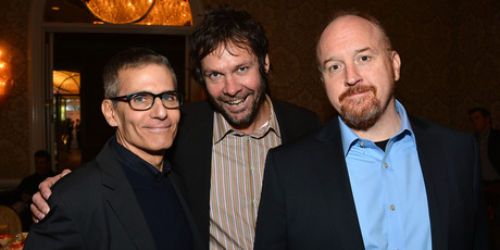 (L-R) HBO President of Programming Michael Lombardo, producer Dave Becky, and writer/producer Louis C.K. Photo / Getty