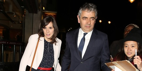 The Mr Bean star's partner Louise Ford, 33, is expecting their first child in the next few weeks. Photo / Getty Images