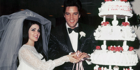 Wedding Photos of Elvis Presley to Priscilla on May 01,1967. Photo / Getty