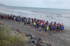 Runners, comprising either 5km or 10km distances, line up for the Caroline Boyd Memorial Walk/Run.Photo: Jan Nisbet