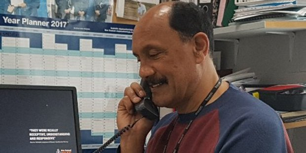 Kaitaia police station volunteer David Ratapu gave a would-be scammer short shrift when he rang the  station. Photo / Mike Dinsdale