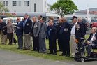 Former service personnel at Saturday's Armistice Day commemorations at Kaitaia War Memorial. Photos / Mike Dinsdale