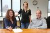 Annamarie Angus, Angela Rogers and Simon Pollard played a part in helping a 19-year-old gain a full time job. Photo/ John Borren