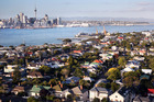 View of housing and Auckland City from Mt Victoria in Devonport. Photo / Doug Sherring