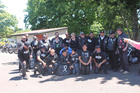 SPECIAL MESSAGE: Seventeen motorcycle riders from throughout New Zealand took their message opposing violence against women to South School last year.