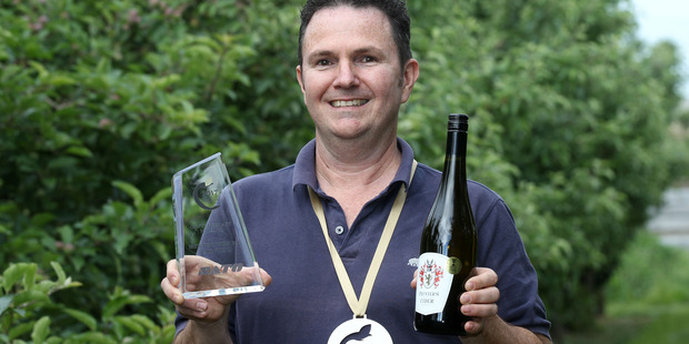Paul Paynter, Paynter's Cider, Havelock North, won the Contemporary New Zealand Cider Award at the New Zealand Cider Awards. Photo / Duncan Brown