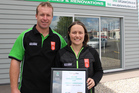 Adan Larsen Builders owners Adan and Kelly Larsen received a highly commended trades excellence award during the 2017 TSB Taranaki Chamber of Commerce Business Excellence Awards.A Stratford couple have been rewarded for their hard work and good business sense.