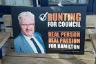 First-time Hamilton city councillor Mark Bunting faced disciplinary proceedings for sending an inappropriate message.