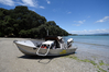 A Rotorua man is missing after this boat overturned last night. Photo/George Novak