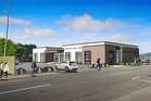 An artist's impression of the proposed Harbour City Funeral Home from Hurley Rd, Paraparaumu. Graphic: Paul L Marcroft.
