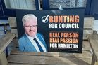 First-time Hamilton City Councillor Mark Bunting will face disciplinary proceedings for sending an inappropriate message meant to be a joke to a female journalist. Photo / Facebook.