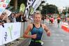 Tauranga Triathlon runner Hannah Knighton wins the sprint distance at the Classic Builders Tinman Triathlon. PHOTO/JOHN BORREN
