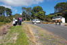 Friends of a woman missing in the Kaimai Range gather at the cordon where people are searching for her. Photo/Sandra Conchie