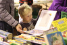 Code Burnett, 4 years old, from Lower Hutt, was among those who attended the Hastings Host Lions Club Book Sale over the weekend. Photo / Duncan Brown