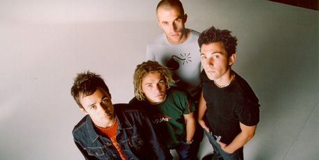 The four members of Zed, pictured in 2001.