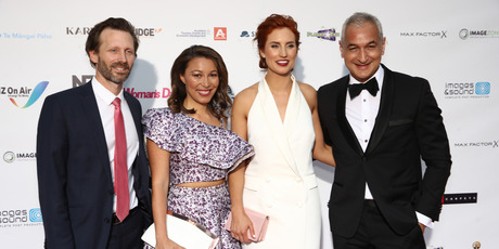 Three's Newshub team were out in force to support their colleagues and celebrate the return of the awards. Photo / Getty