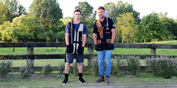 Bradley Parrott (left) and Michael Vincent to represent New Zealand against the world's best clay target shooters.