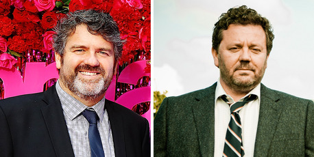 The Crowd Goes Wild host James McOnie and his doppelganger, Brokenwood Mysteries star Neill Rea.