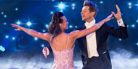 Simon Barnett and his dance partner Vanessa Cole perform in the last season of Dancing With the Stars.