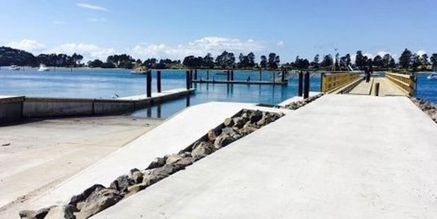 Six months and $1.4m later, Tairua has a new wharf, boat ramp and floating pontoons at Mary's Beach.