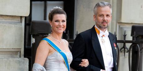 Princess Martha Louise of Norway, and husband Ari Behn, arrive at The Royal Chapel, at The Royal Palace. Photo / Getty Images