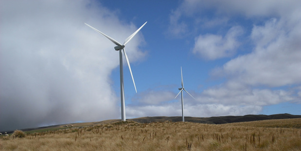 Wind turbines similar to this are proposed for coastal land near Waverley. Photo/supplied