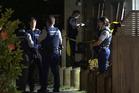 Police investigate a violent attack on a man on Sandbrook Ave Otara. Photo / Sam Sword