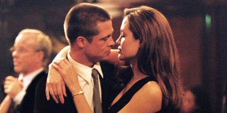 Angelina Jolie and Brad Pitt met while filming Mr. & Mrs. Smith.