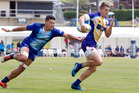 Scott Curry makes a run during the 2017 Bayleys National Sevens at Rotorua International Stadium. Photo / File